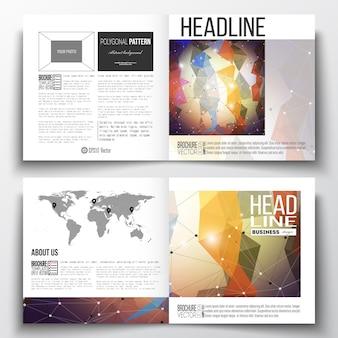 Plantilla de folleto de diseño cuadrado