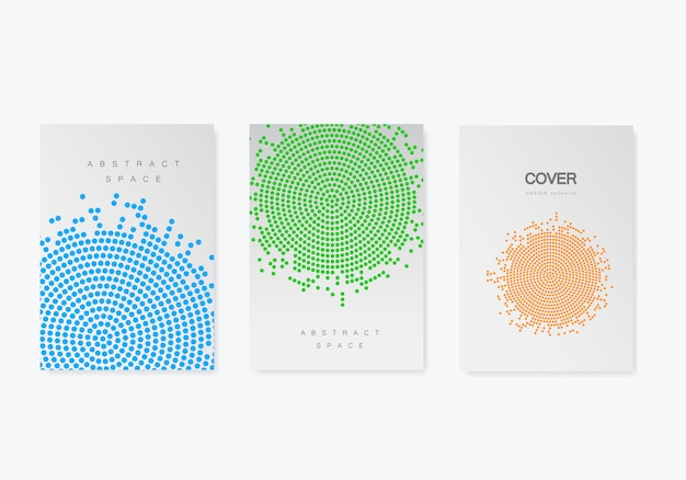 Plantilla de folleto con diseño de trama de semitonos. informe anual, revista, folleto en tamaño a4.