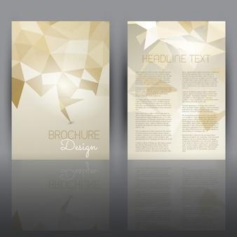 Plantilla de folleto de doble cara con un diseño de pocos polígonos