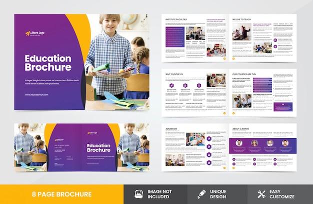 Plantilla de folleto de educación