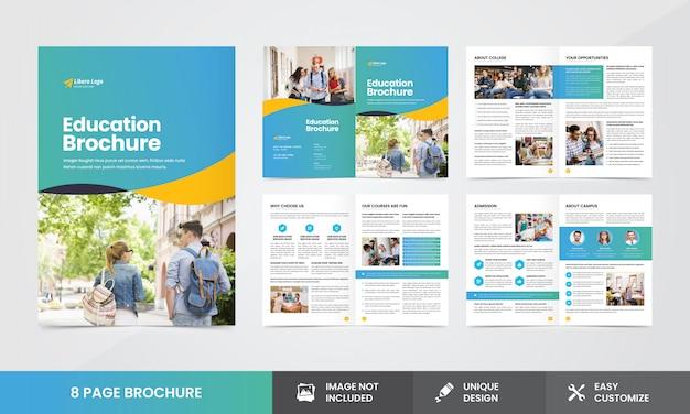 Plantilla de folleto - empresa educativa