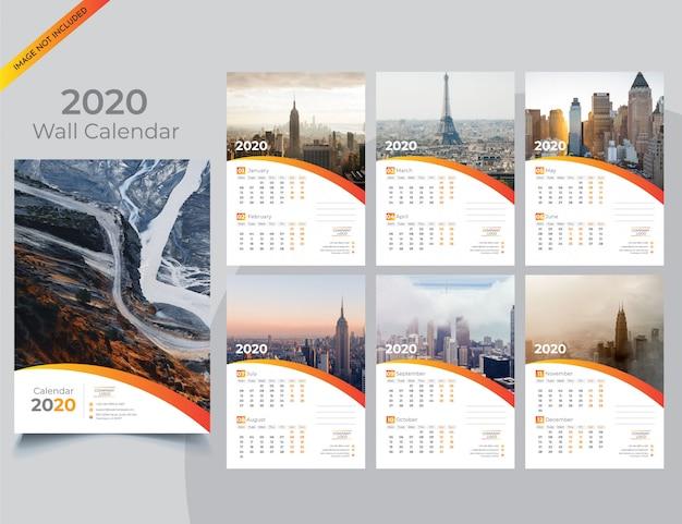 Plantilla de folleto de empresa paisaje