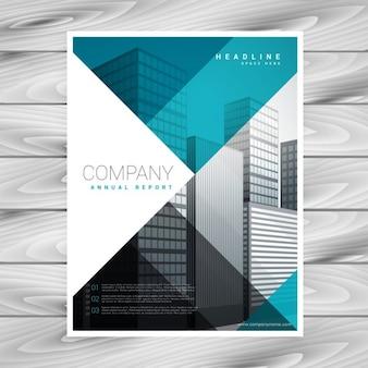 Plantilla de folleto empresarial azul para su empresa