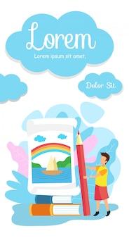 Plantilla de folleto - escuela primaria