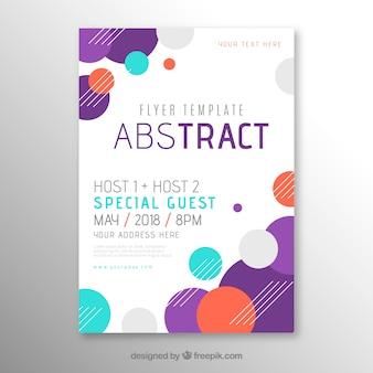 Plantilla de folleto en estilo abstracto