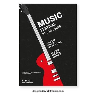 Plantilla de folleto de festival de música