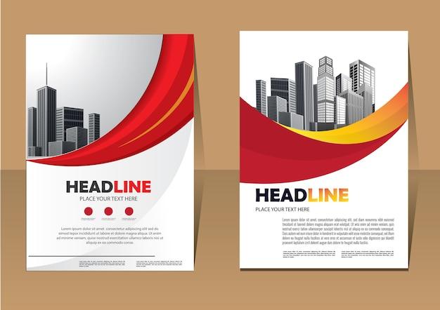 Plantilla de folleto flyer diseño empresarial para informe anual