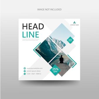 Plantilla de folleto de folleto de flyer de pancartas de viaje