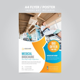 Plantilla de folleto de folleto de negocio mulripurpose a4 médico