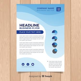Plantilla de folleto formal de negocios