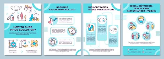 Plantilla de folleto de frenar la evolución del virus