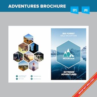 Plantilla de folleto - gestión forestal y turística