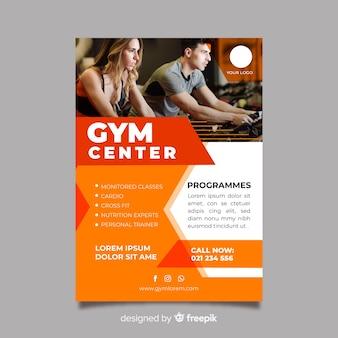 Plantilla de folleto de gimnasio