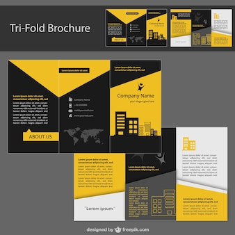 Plantilla de folleto de identidad corporativa