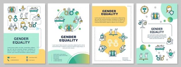 Plantilla de folleto de igualdad de género