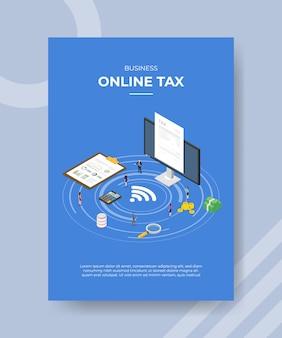 Plantilla de folleto de impuestos comerciales en línea