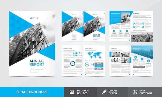 Plantilla de folleto del informe anual de la empresa