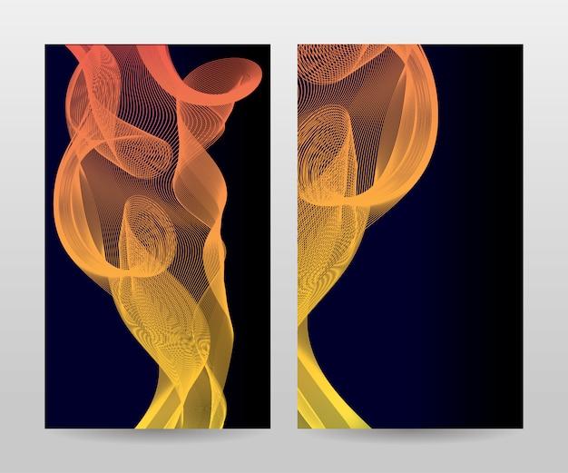 Plantilla para folleto, informe anual, revista, póster, presentación corporativa, cartera, folleto, diseño moderno con color azul, anverso y reverso, fácil de usar y editar.