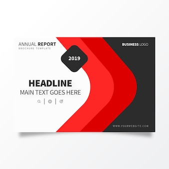 Plantilla de folleto de informe anual