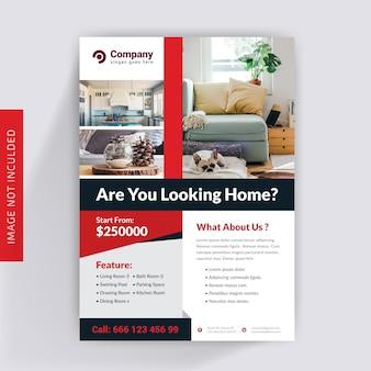 Plantilla de folleto inmobiliario