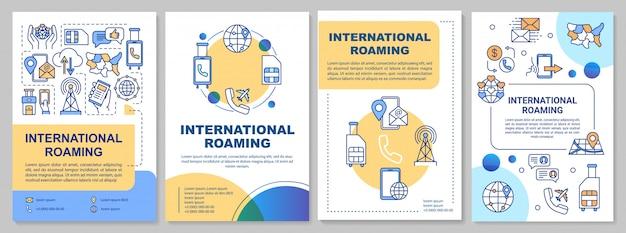Plantilla de folleto de itinerancia internacional