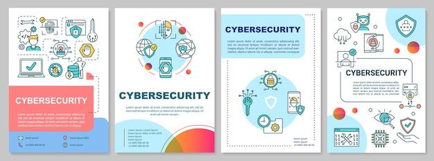 Plantilla de folleto de marco de ciberseguridad