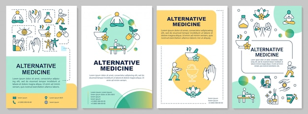 Plantilla de folleto de medicina alternativa