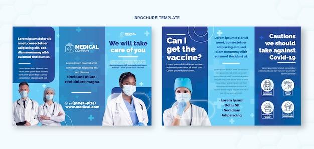 Plantilla de folleto médico plano
