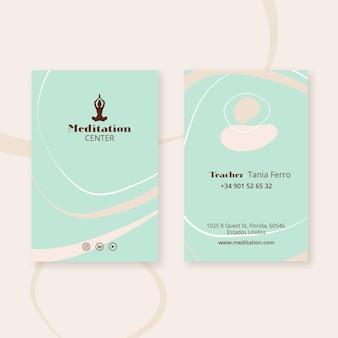 Plantilla de folleto de meditación