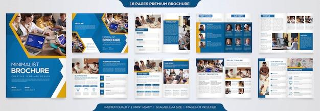 Plantilla de folleto minimalista premium