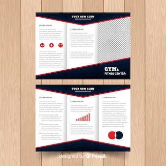 Plantilla de folleto moderno con elementos infográficos