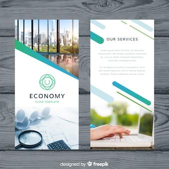 Plantilla de folleto moderno de negocios