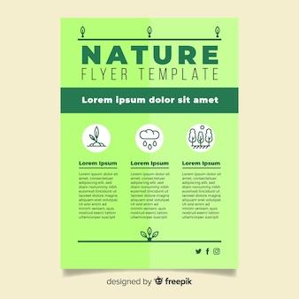 Plantilla de folleto de naturaleza