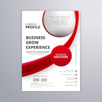 Plantilla de folleto de negocio moderno con vector de diseño de onda