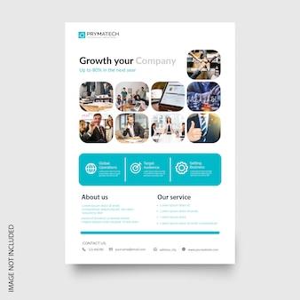 Plantilla de folleto - negocio moderno