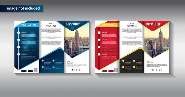 Plantilla de folleto de negocio para la promoción de la empresa de marketing