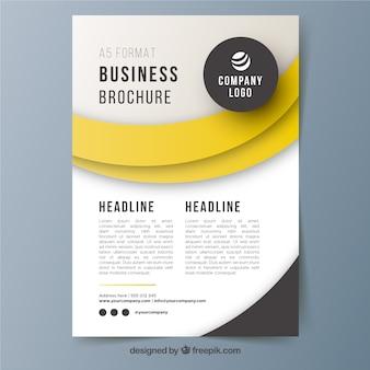 Plantilla de folleto de negocios a5