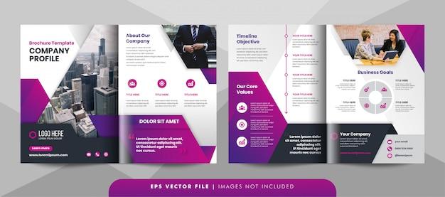 Plantilla de folleto de negocios corporativos creativos.