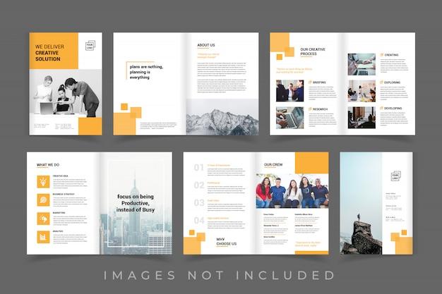 Plantilla de folleto de negocios corporativos profesionales