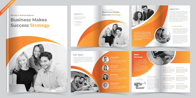 Plantilla de folleto de negocios corporativos