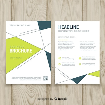 Plantilla de folleto de negocios con diseño geométrico