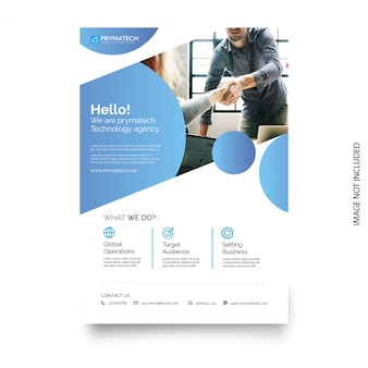 Plantilla de folleto de negocios con diseño moderno.