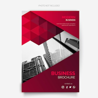 Plantilla de folleto de negocios con diseño moderno