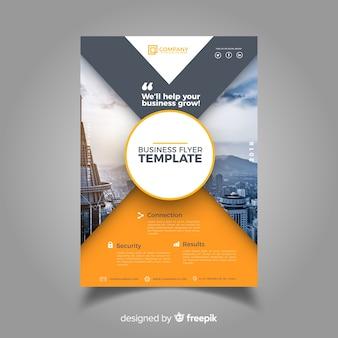 Plantilla de folleto de negocios con estilo moderno