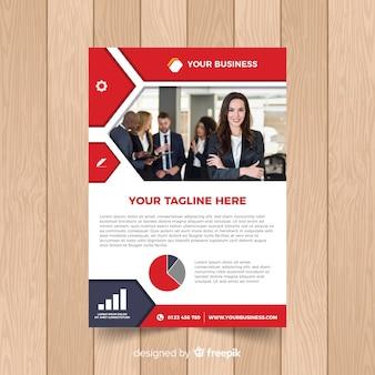 Plantilla de folleto de negocios con foto