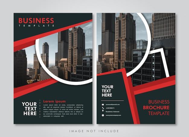 Plantilla de folleto de negocios franja roja