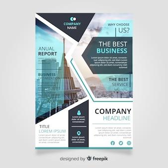 Plantilla de folleto de negocios con imagen