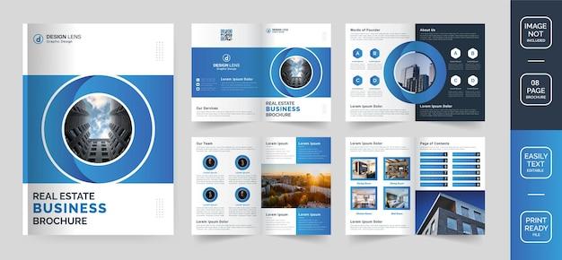 Plantilla de folleto de negocios inmobiliarios corporativos