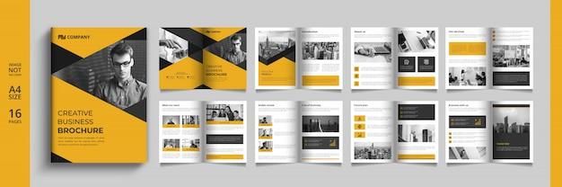 Plantilla de folleto o catálogo empresarial moderno