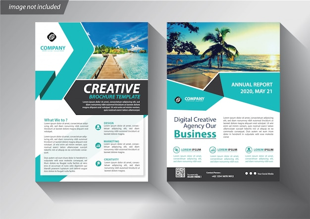 Plantilla de folleto o folleto para empresa comercial